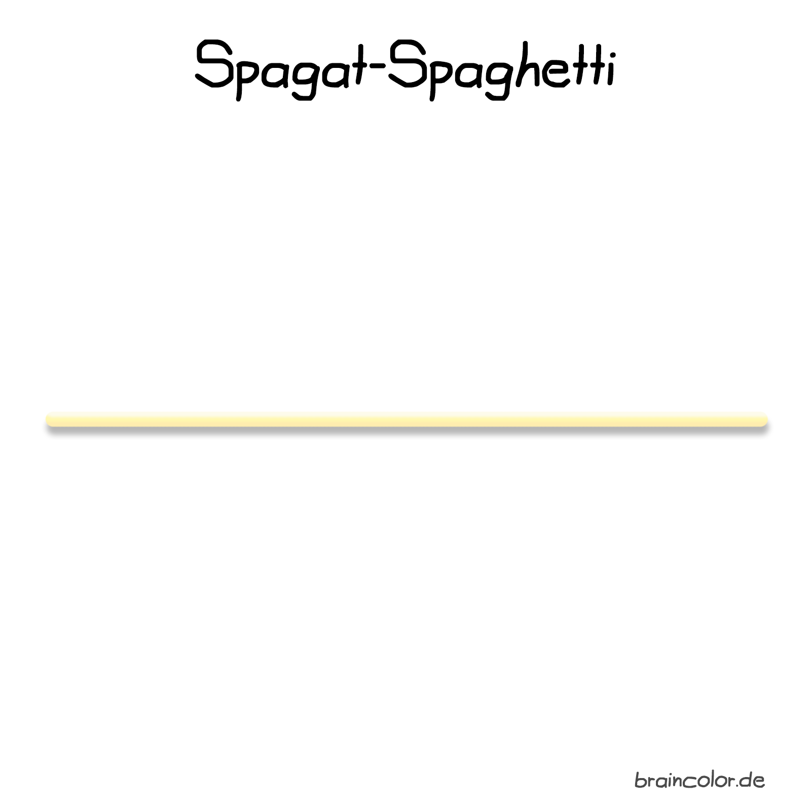 Spagat-Spaghetti